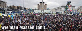 Luftaufnahme vom Hauptplatz in Kiew