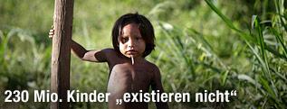 Indigenes Kind in Brasilien