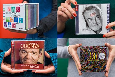 Hände halten CDs