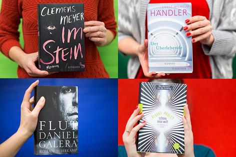 Hände halten Bücher