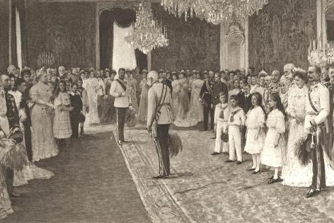 Erzherzog Franz Ferdinand hält Huldigungsansprache an den Kaiser, 1908