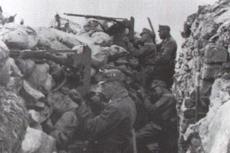 Österreichischer Schützengraben am Isonzo