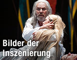 Klaus Maria Brandauer (König Lear), Pauline Knof (Cordelia), Dorothee Hartinger (Regan)