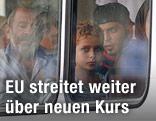 Flüchtlinge in Bus
