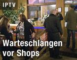 Menschen vor Marijuana-Shop