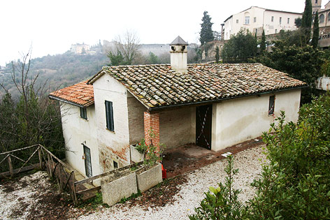 Haus in Perugia in dem die Studenten lebten