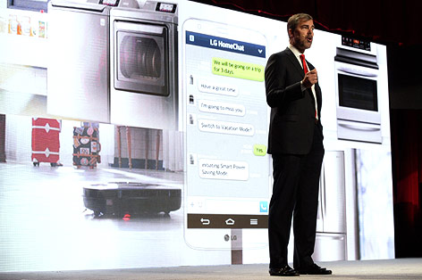 LG-Manager für Haushaltsgeräte Dave VanderWaal erklärt das System LG-Home-Chat