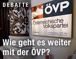 ÖVP-Logo beim Eingang zum Bundesparteizentrale