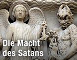 Darstellung des Teufels auf der Kathedrale von Notre Dame in Paris