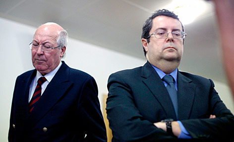 Ehemaliger Telekom-Generaldirektor Heinz Sundt  und der ehemalige Telekom-Vorstand Stefano Colombo