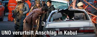 Tatort der Explosion in Kabul