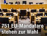 Kleiner Plenarsaal im EU-Parlament in Brüssel