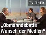 Bundesminister Reinhold Mitterlehner in der ORF-Pressestunde