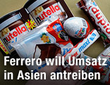 Süßigkeiten von Ferrero auf einem Haufen
