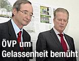 Wirtschaftsminister Reinhold Mitterlehner und Wirtschaftsbund-Obmann Christoph Leitl (beide ÖVP)