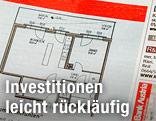 Immobilienanzeige mit Wohnungsgrundriß
