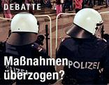 Absperrung der Polizei