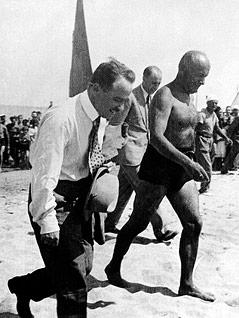Dr. Engelbert Dollfuss und Benito Mussolini