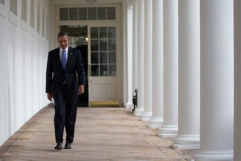 Barack Obama auf dem Weg zum Weißen Haus