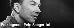 Folklegende Pete Seeger auf einer Archivaufnahme aus 1967