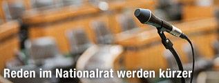 Mikrophon im Parlament