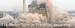 Sprengung des AFE-Turms in Frankfurt
