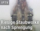 Gesprengtes Hochhaus in Frankfurt
