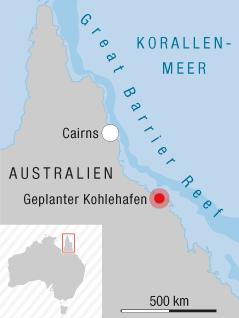 Great Barrier Reef Karte.Umtrittener Kohlehafen Am Great Barrier Reef News Orf At