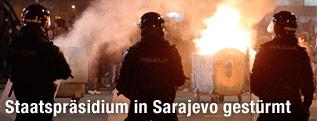 Polizeikräfte in Sarajevo