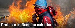 Demonstrant in Bosnien