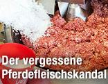 Maschine verarbeitet Fleisch zu Faschiertem