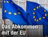 EU-Flaggen im Wind