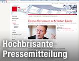 Screenshot der Pressemitteilung von Thomas Oppermann
