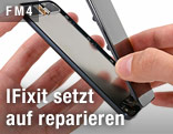Geöffnetes Smartphone