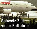 Entführter Airbus A-300 der französischen Gesellschaft Air Inter