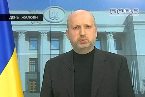 Übergangspräsidenten der Ukraine Alexander Turtschinow