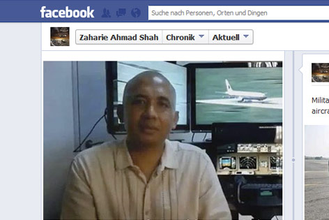 Flugkapitän Zaharie Ahmad Shah vor seinem Flugsimulator
