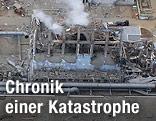 Zerstörter Reaktorblock