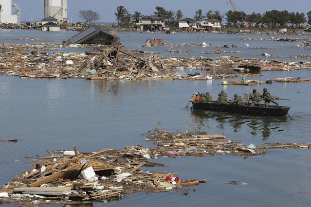 Rettungsarbeiten nach Tsunami