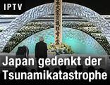 Japans Kaiser Akihito und Kaiserin Michiko während einer Gedenkzeremonie