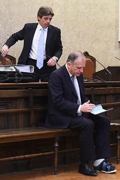 Anwalt Thomas Kralik und der frühere ÖVP-Innenminister und EU-Abgeordnete Ernst Strasser