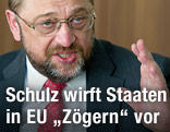 Der Präsident des Europäischen Parlaments, Martin Schulz