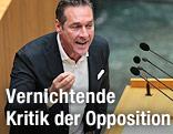 FPÖ-Parteichef Heinz Christian Strache
