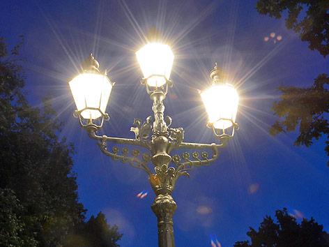 Leuchtende Gaslaterne