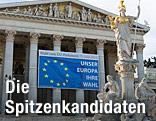 EU-Wahlplakat auf dem Parlamentsgebäude