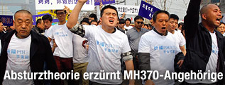 Angehörige protestieren in Peking