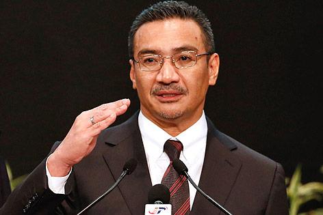 Der malaysische Transportminister Hishamuddin Hussein