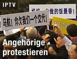 Protestierende Angehörige