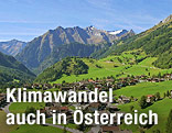 Blick auf den 2.767 Meter hohen Mullkogel im Osttiroler Praegarten am Grossvenediger