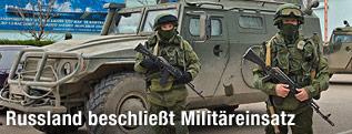 Soldaten auf der Krim